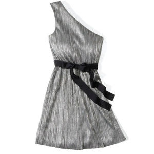 Express One Shoulder Party Dress - Silver